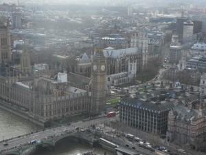 с высоты London Eye