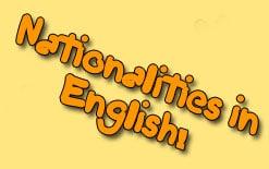страны и национальности на английском