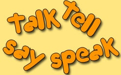 употребление say talk speak и tell