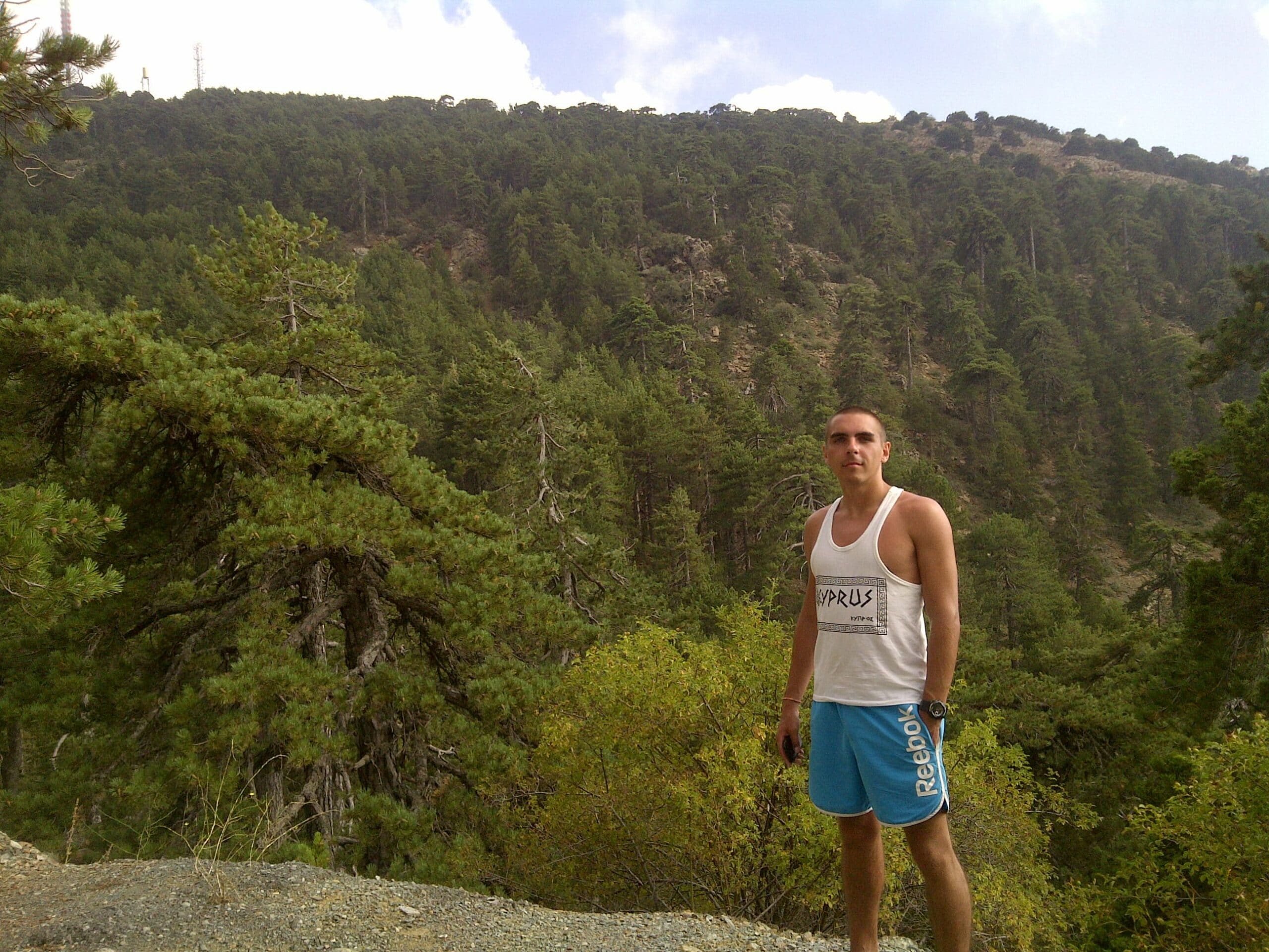в горах на Кипре