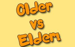 разница между older и elder