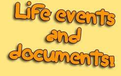 события из жизни и документы на английском