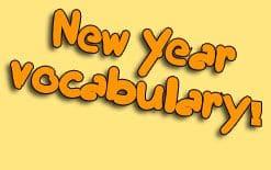 словарный запас на тему нового года