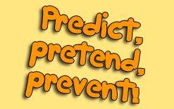 перевод глаголов prevent predict и pretend