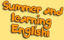 как учить английский летом
