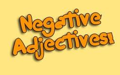 10 негативных прилагательных