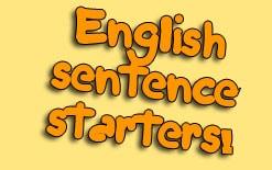 начальные предложения на английском