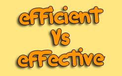 разница между efficient и effective