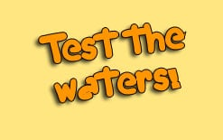 test the waters перевод