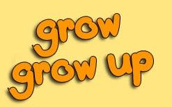 разница между grow и grow up