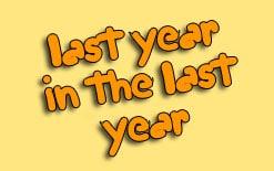 разница между last year и in the last year