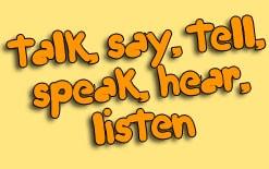разница между say talk tell