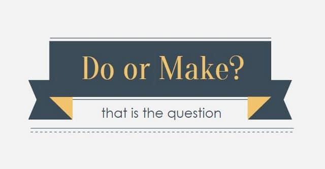 make и do употребление