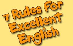 -английского Семь правил для превосходного английского