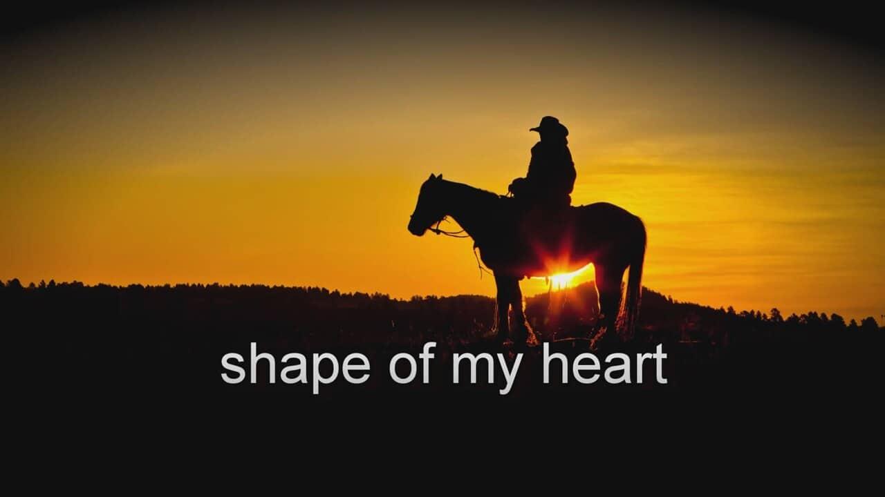 Shape of my heart sheet music by sting (lyrics & piano chords.