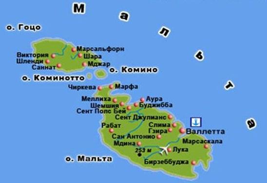 malta_map Наш отдых на Мальте!
