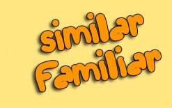 familiar-и-similar Употребление familiar и similar