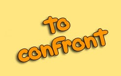 to-confront To confront значение и употребление в речи