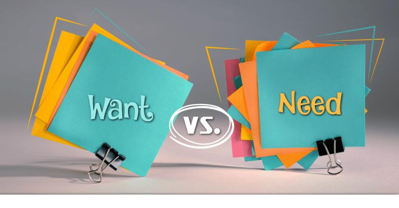 Разница между «want»и «need»