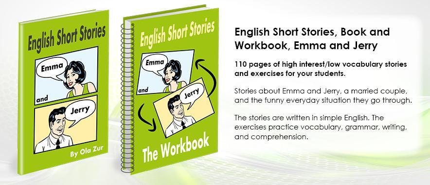Короткие истории на английском, книга+рабочая тетрадь