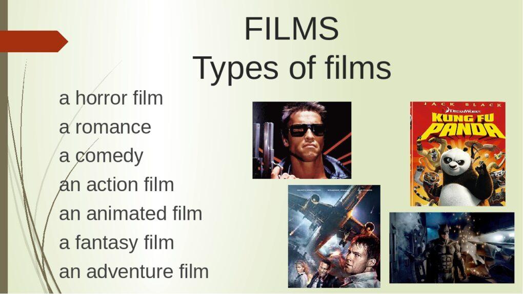 жанры фильмов на английском